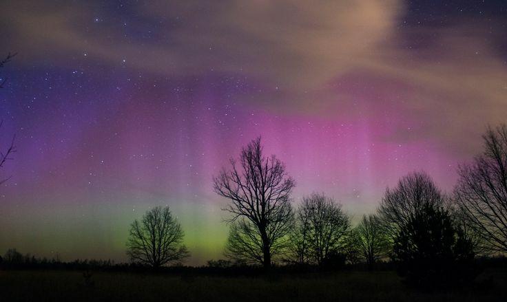 Przepiękna zorza polarna - Warszawa 17.03.15 / Beautiful aurora borealis - Warsaw, 17 March, 2015