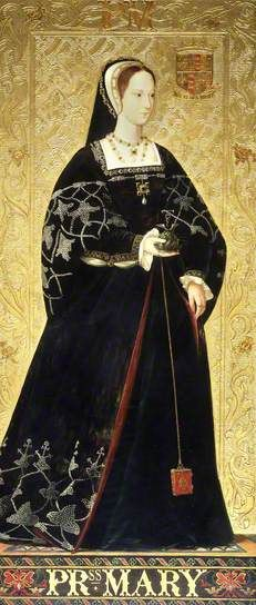 Mary Tudor  By Richard Burchett   Oil on panel, 1850's
