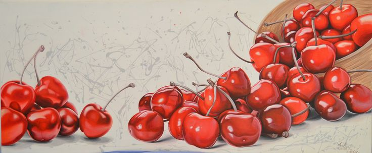 PAINTED CHERRIES 120X50 CM