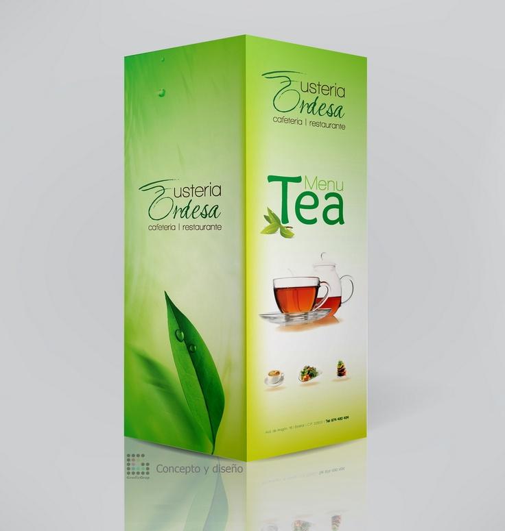Tea Menu for Restaurant  Design made by GraficGrup