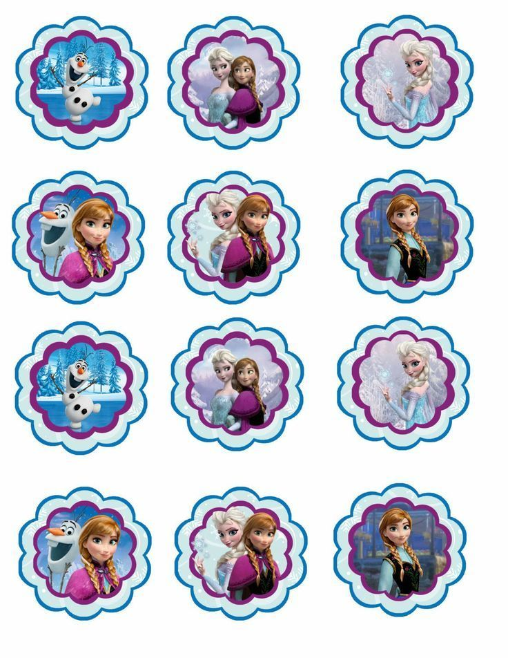 free frozen cupcake toppers - Bing Images