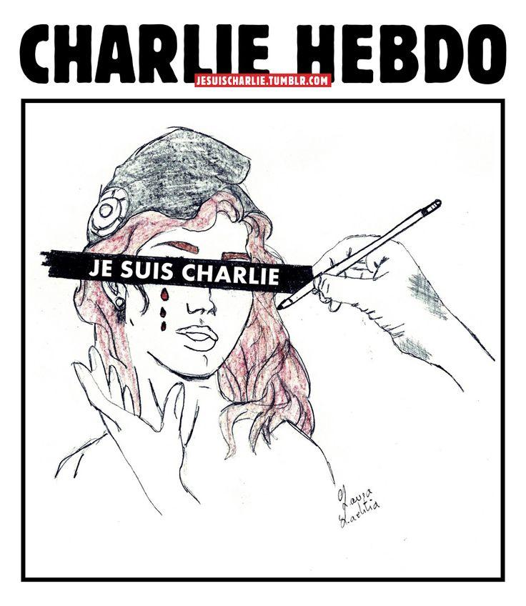 SOURCE TUMBLR.COM.........Le slogan Je suis Charlie, signifiant « Je suis [solidaire avec les victimes de l'attentat contre] Charlie [Hebdo] », indique le soutien aux victimes dans le sens des mots « Ce soir, nous sommes tous Américains » de la politologue Nicole Bacharan le 11 septembre 2001, mots repris par le journaliste Jean-Marie Colombani dans son éditorial du 13 septembre dans le quotidien Le Monde.. ..