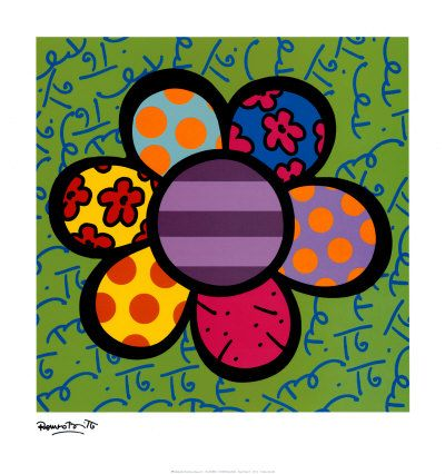 "Romero Britto, Posters and Prints at Art.com - The print alone is $21.99 in the 20"" X 21"" size"