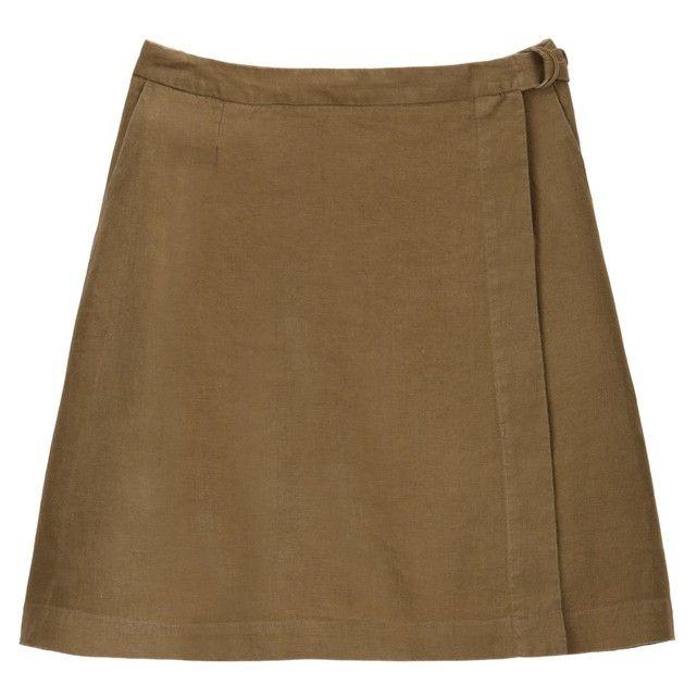 1957b67ecfb500 Jupe portefeuille en lin, 2 poches en 2019   Vêtements lin - La ...