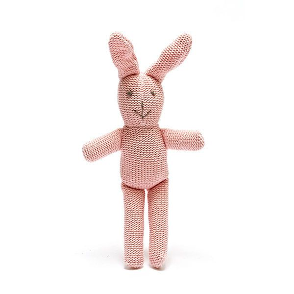 20 easter pinterest handmade organic cotton pink knitted rattle cute gift for babys easter negle Choice Image