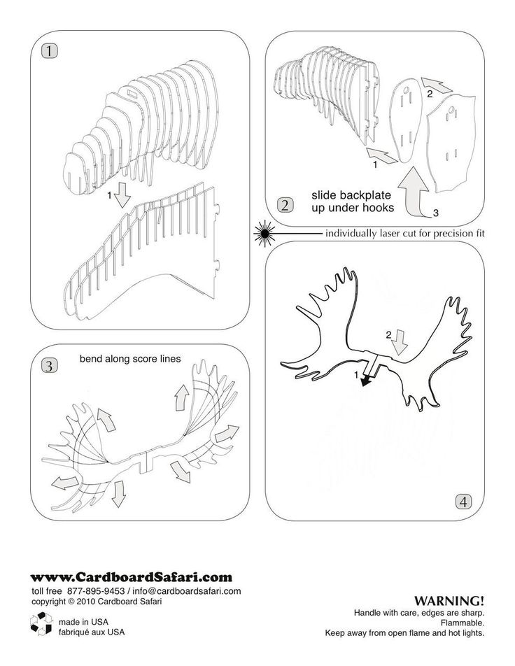 Cardboard Safari - Fred Moose Bust, $30.00 (http://www.cardboardsafari.com/fred-moose-bust/)