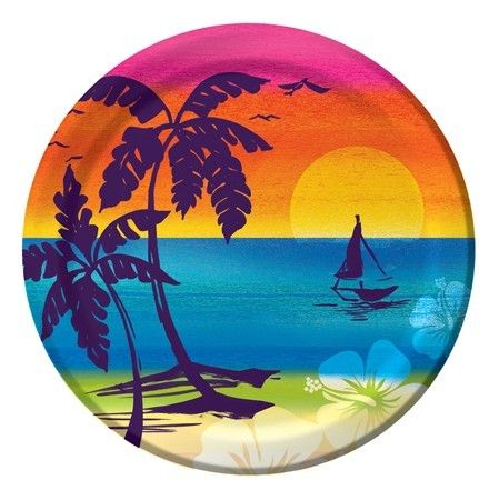 Aloha Summer Hibiscus 9 inch Plates Luau Party Supplies. Paper NapkinsPaper PlatesDinnersBeach ...  sc 1 st  Pinterest & 39 best Beach \u0026 Tropical Theme Party Supplies images on Pinterest ...