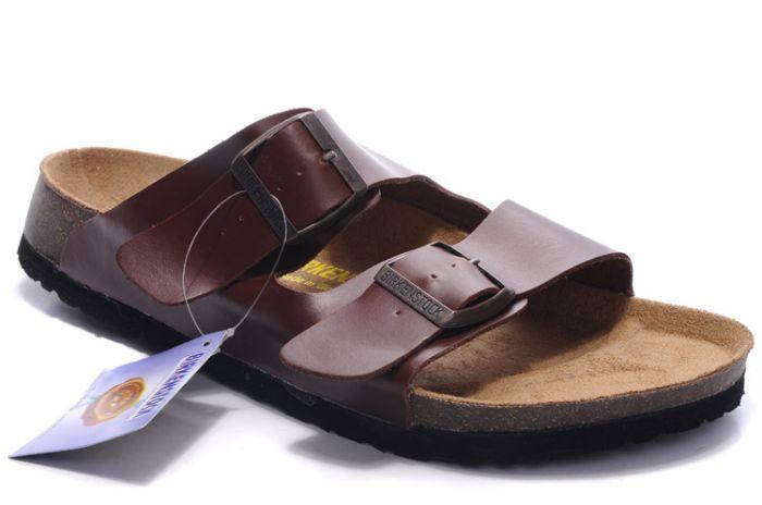 Birkenstock Arizona Sandals Leather Brown for womens