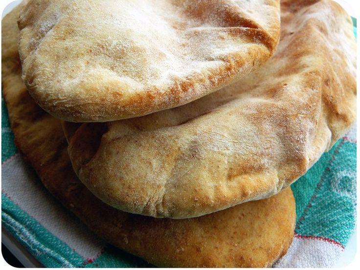 Notre pain pitta du samedi midi ...