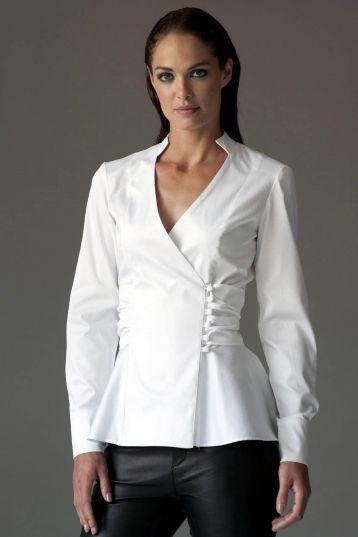 The Shirt Company   Josephine Peplum Shirt - White £85