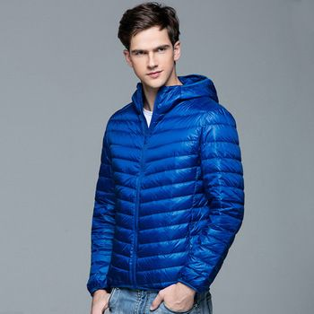 2016 Nieuwe Mannen Winter Jas Mode Capuchon 90% Witte Eend Donsjacks Plus Size Ultralight Down Jas Draagbare Slanke Down parka 3