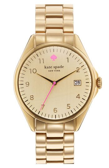 """I think I should celebrate Daylight Savings by buying this. (kate spade """"seaport grand"""" watch)"""