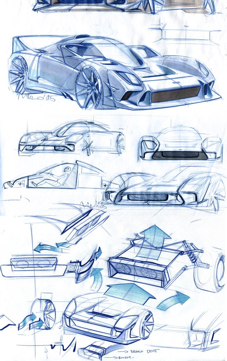 Very early detail work. Apparently plenty of freedom in the front area! #sketch #sportscar #design #car #design #automotive