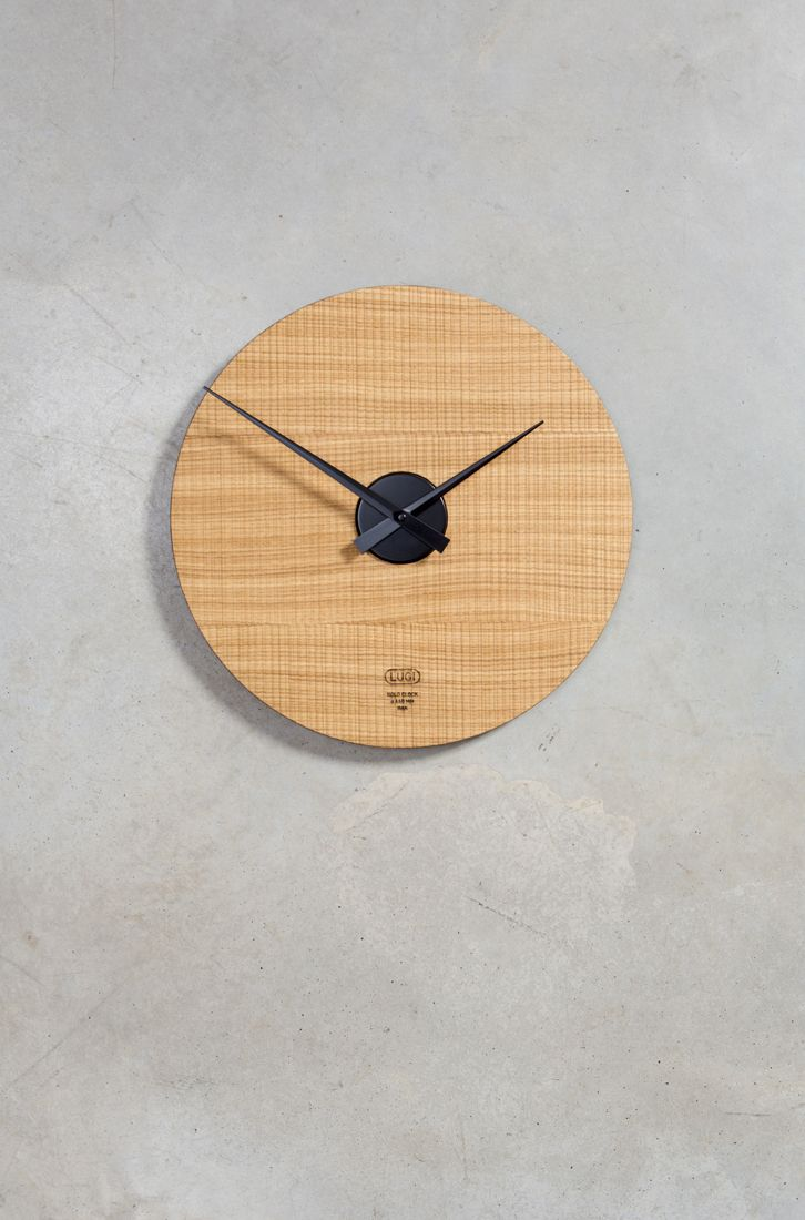 Kolo Clock 440 mm - Oak & Black Designed and produced by LUGI