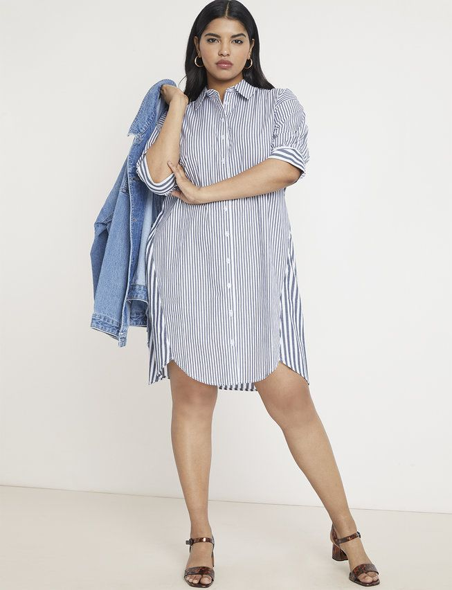 Contrast Stripe High-Low Dress in 2019 | My Style | Plus size ...