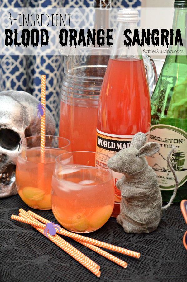 3-Ingredient Blood Orange Sangria recipe created for @worldmarket #bookoflife #halloweendrink #beverage