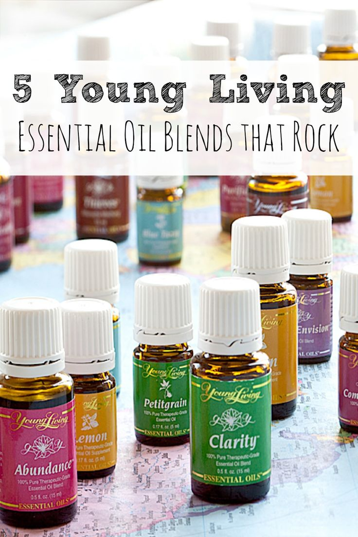 5 Essential Oils Blends That Rock! - These 5 blends of oils should be in every home,  From helping you to de-stress, to using in homemade cleaners, to giving you energy and more!