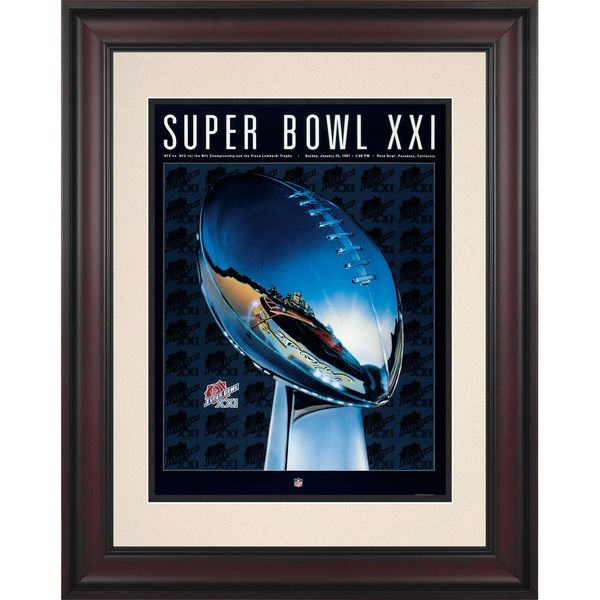 "Fanatics Authentic 1987 Giants vs. Broncos Framed 10.5"" x 14"" Super Bowl XXI Program - $89.99"