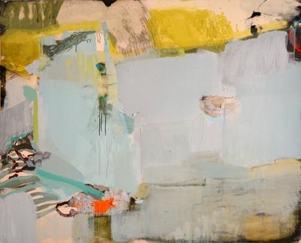 The feeling of well-being, 2012   48 x 60 in  acrylic with polymers