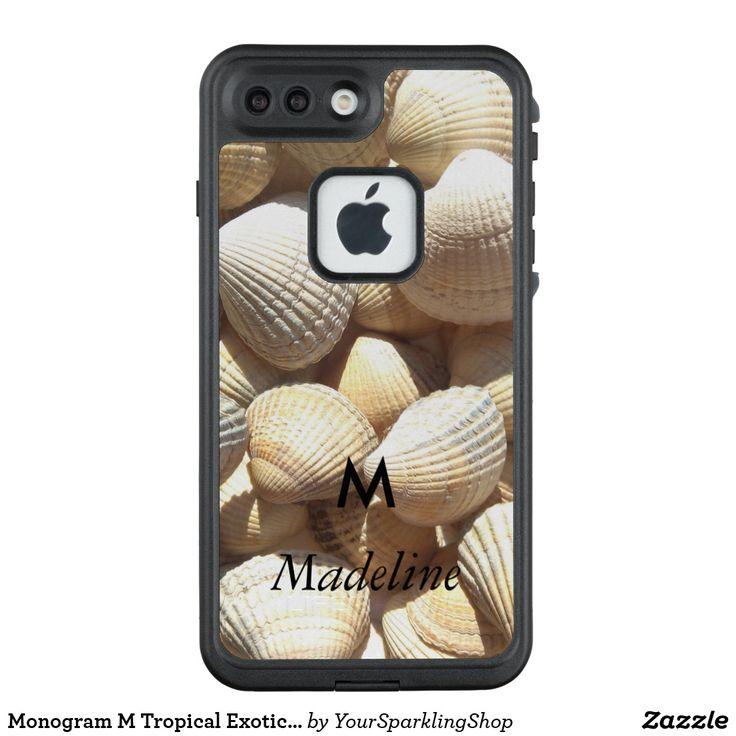 Custom #Monogrammed Tropical Exotic Summer Beach #SeaShells #Lifeproof #FRE case #giftideas