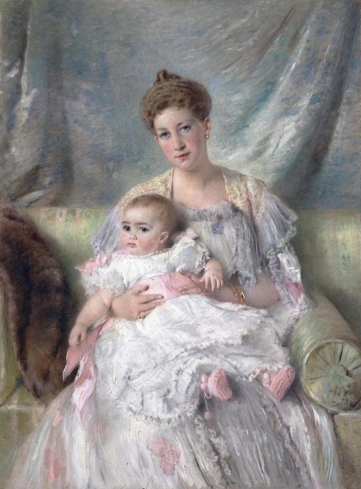 ...Маковский, МГ и Нина, примерно 1901-2