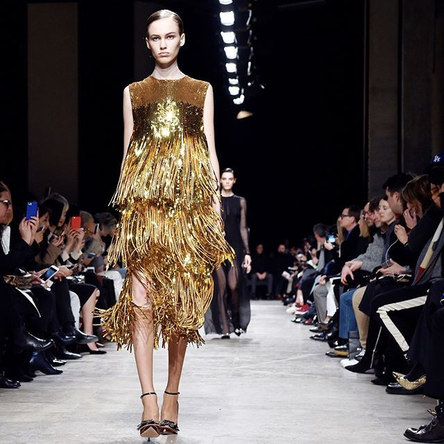 From gold party dresses to fuzzy handbags that double as hats swipe for the best of Paris Fashion Week today. : @gettyimages #PFW  via INSTYLE MAGAZINE OFFICIAL INSTAGRAM - Fashion Campaigns  Haute Couture  Advertising  Editorial Photography  Magazine Cover Designs  Supermodels  Runway Models