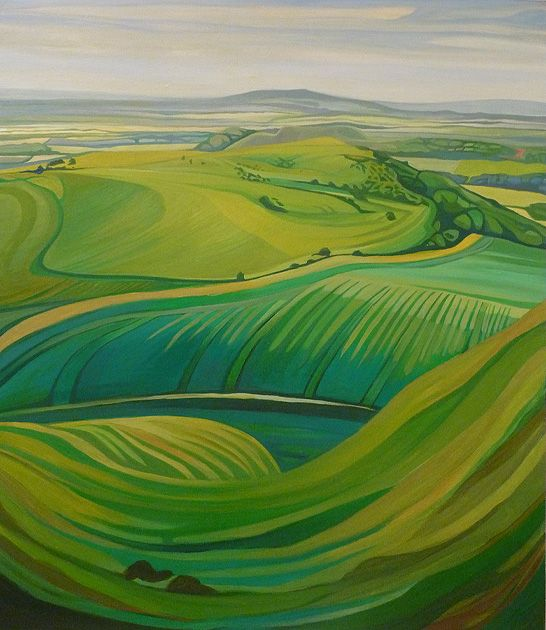 Anna Dillon the Artist - Painting of Mere Downland