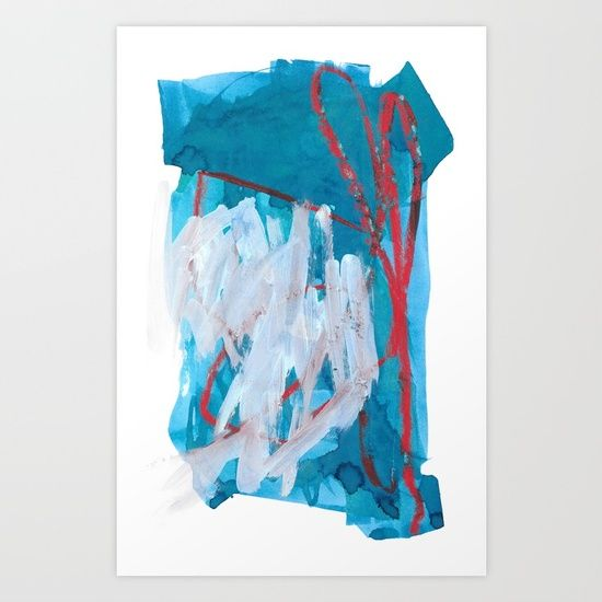 """""""Minty Fresh"""" abstract art by Leanne Simpson. This artwork is available at Society6 as an art print, phone case, tote bag and more! https://society6.com/leannesimpsonart"""