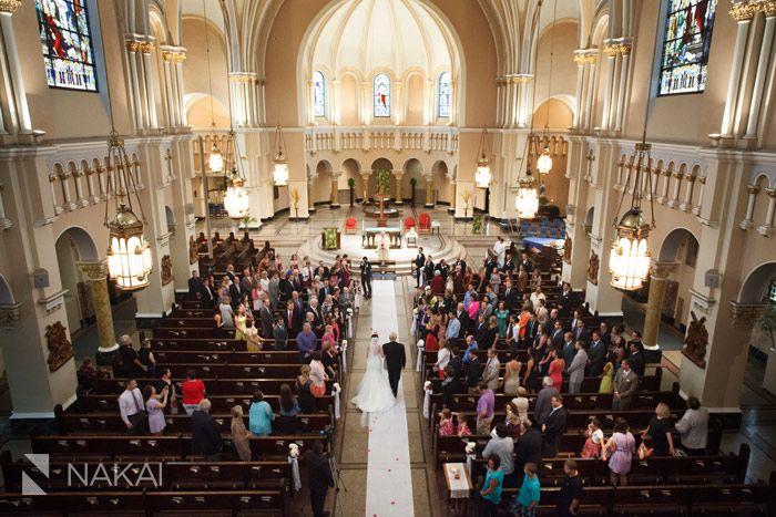St Benedict Parish wedding ceremony venue. Photo by Chicago Wedding…