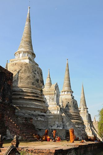 Ancient city of Ayutthaya in #Thailand, now a Historical Park and UNESCO World Heritage Site.