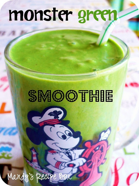 Monster Green Smoothie | healthy me | Pinterest