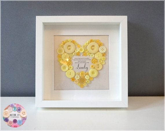 Framed Button Art  Mothers Day  Nursery Wall by RichLittleThings