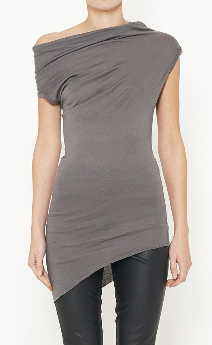 RICK OWENS  Asymmetric Grey Top  You know me too well! ;) @Brittany Horton Deins