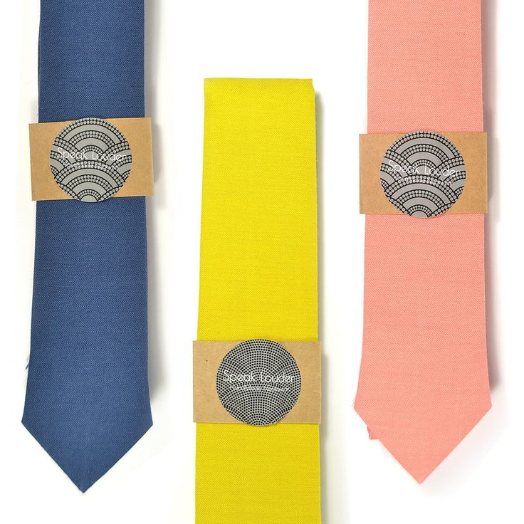 Coral, navy, or  yellow necktie - Wedding Mens Tie Skinny Necktie organic cotton- choose one by speaklouder on Etsy