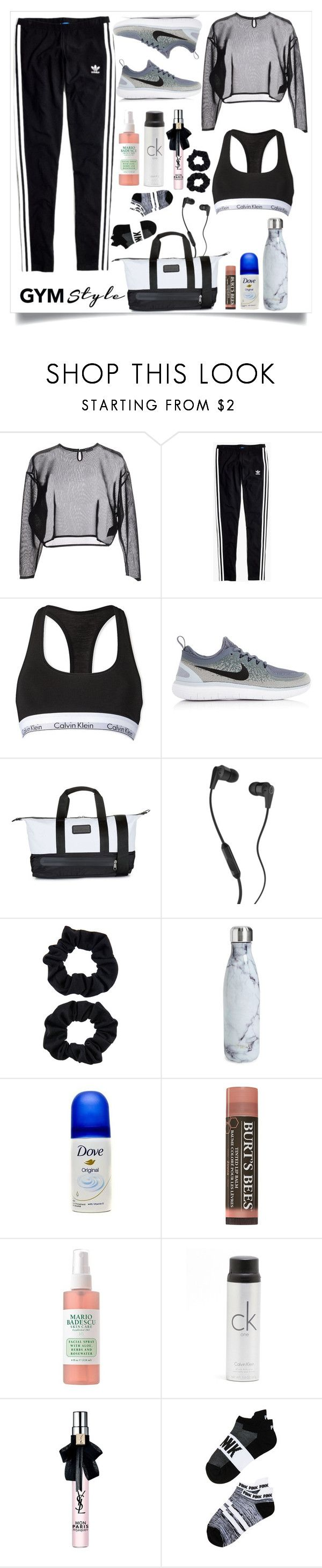 """Sans titre #93"" by sarahmartens2 ❤ liked on Polyvore featuring Yves Saint Laurent, Madewell, Calvin Klein, NIKE, adidas, Skullcandy, Accessorize, S'well and Victoria's Secret"