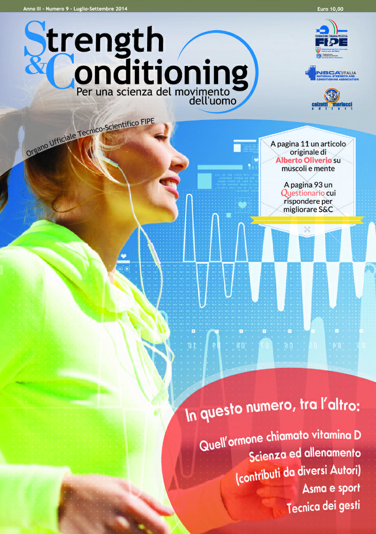 Strength & Conditioning - N° 9  http://www.calzetti-mariucci.it/shop/prodotti/rivista-strength-conditioning-n-9