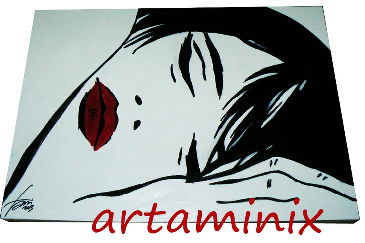 Valentina Crepax sleep #handmade #pop #art #lipstic #sexy #art #comic #fumetti #italia