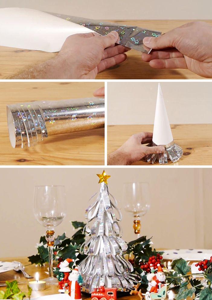 Árvore-de-Natal-de-papel-brilhante