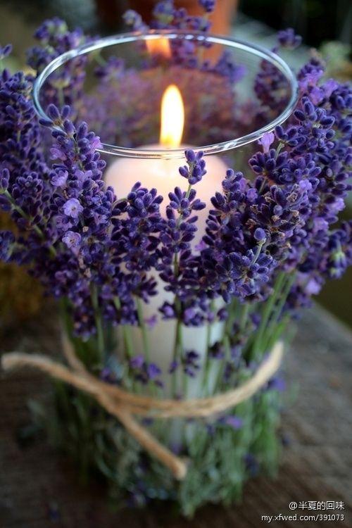 Centerpiece with lavender