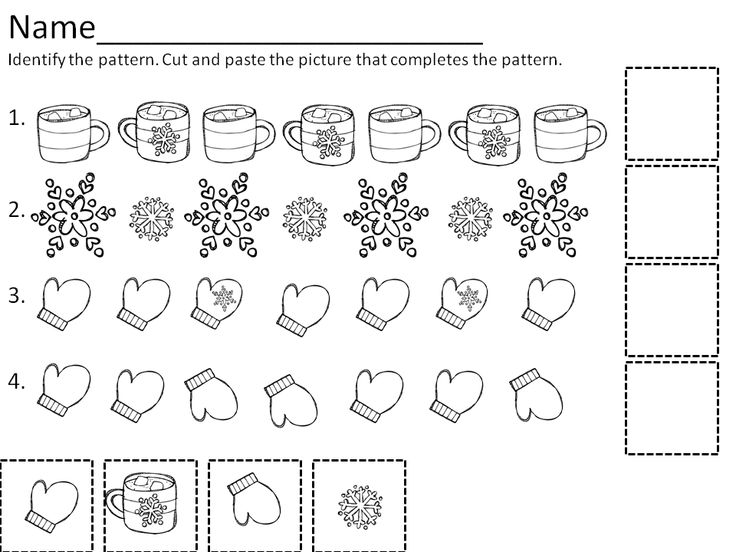 143 best images about PEDS ColorTraceCutPaste Wksts on – Patterns Worksheets for Kindergarten