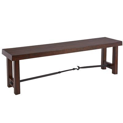 Eastwood Tobacco Brown Dining Bench Our New Edge House