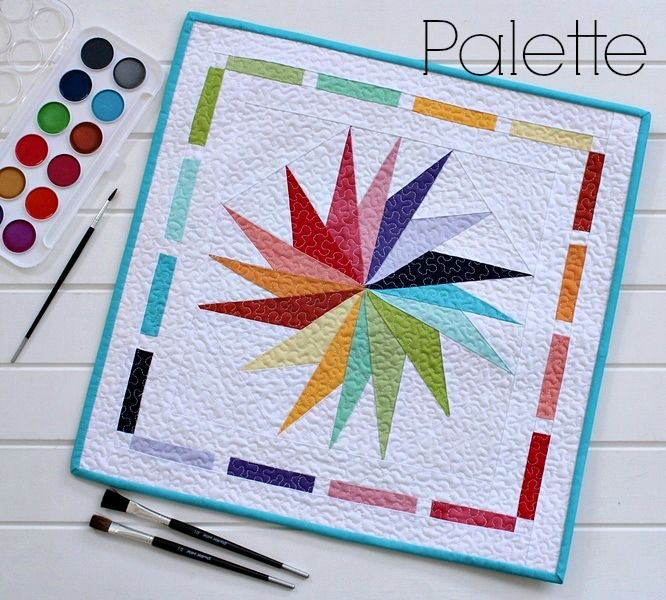 Threadbare Creations- Palette Mini Quilt
