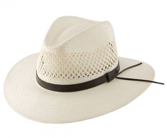 Stetson Digger Shantung - Bill the Hatter Shantung Straw Vented Pinch front  crown 3 1/