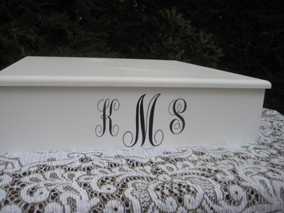 Cake Stand Wedding Decor Personalized Monogram by YourDivineAffair, $69.95