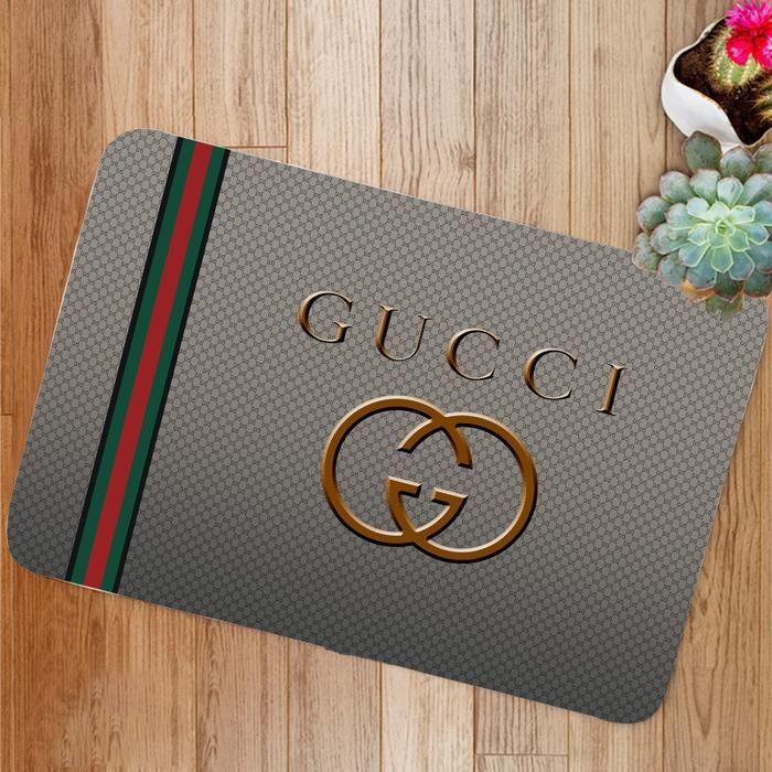 Luxury Gucci Logo Custom Floor Mat Custom Bathroom Designs Glass Bathroom Designs Popular Bathroom Designs