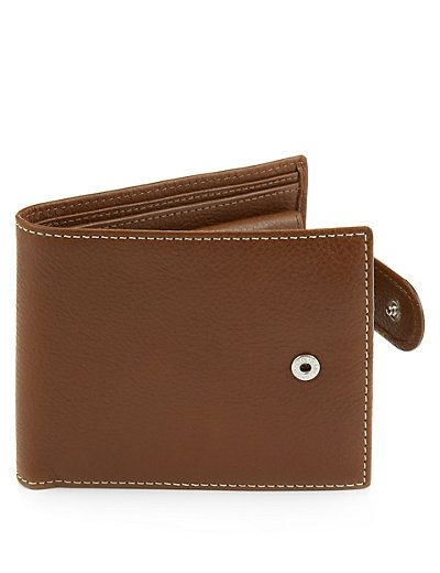 Luxury Leather Coin ID Tab Wallet with Datashield | M&S