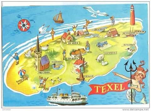 Texel ansichtkaart '70