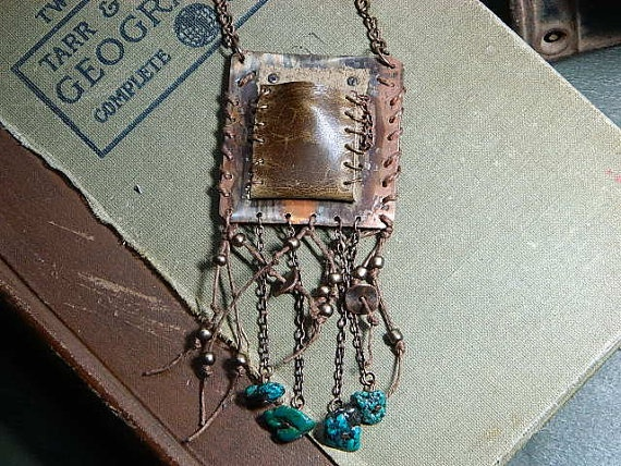 Medicine necklace amulet talisman Steampunk Old by peacemama73, $60.00