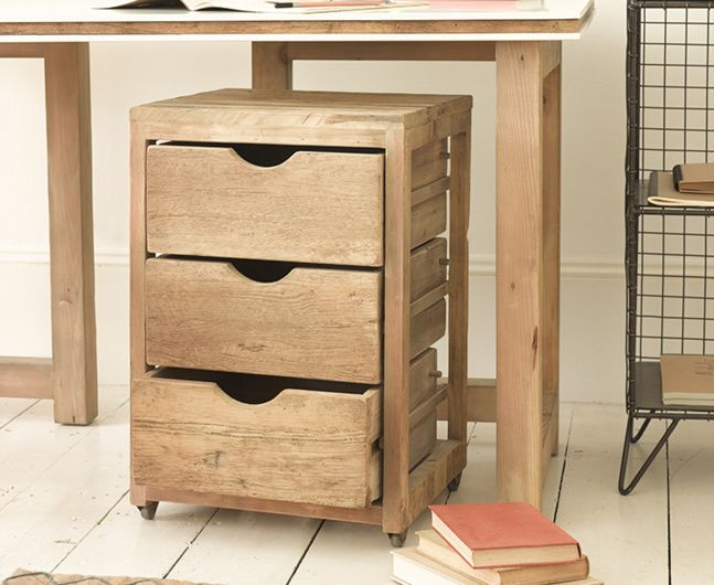 A seriously cool addition to any study our Rolly is an uber-useful set of drawers!