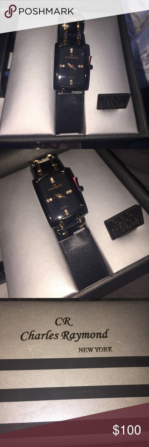 Charles Raymond watch Black/gold with quartz charles raymond Jewelry Bracelets